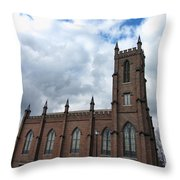 Historical 1st Presbyterian Church - Gates Avenue Se Huntsville Alabama Usa - Circa 1818 Throw Pillow