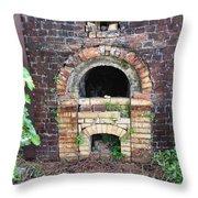 Historical Antique Brick Kiln In Morgan County Alabama Usa Throw Pillow