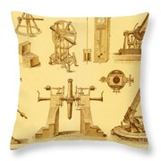 Historical Astronomy Instruments Throw Pillow