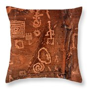 History In Stone Throw Pillow