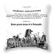 History Of Photography, 1847 Throw Pillow