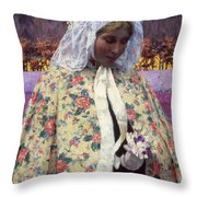 Hitchcock: The Bride, 1900 Throw Pillow