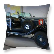 Hitler's 39 Mercedes-benz Throw Pillow