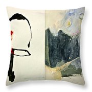Hits And Mrs Or Kami Hito E 1  Throw Pillow