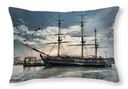 Hms Bounty Newport Throw Pillow