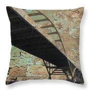 Hoan Bridge And Brick Throw Pillow