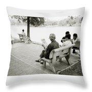 Hoan Kiem Lake Throw Pillow
