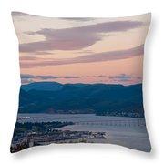 Hobart Harbour During Sunset Throw Pillow
