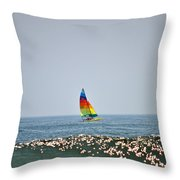 Hobie Cat Throw Pillow