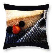 Hobo Snowman Closeup IIi Throw Pillow