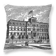 Hoboken: College, 1878 Throw Pillow