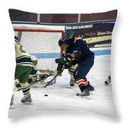 Hockey One On Four Throw Pillow