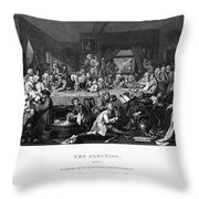 Hogarth: Election Throw Pillow