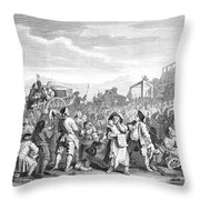 Hogarth: Industry, 1751 Throw Pillow