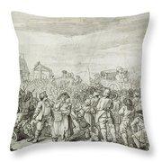 Hogarth: Industry, C1751 Throw Pillow