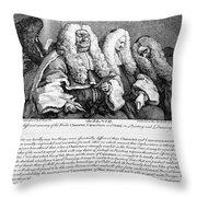Hogarth: Judges, 1758 Throw Pillow