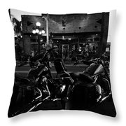 Hogs At Gaspar's Throw Pillow