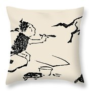 Hokusai: Horse, C1814 Throw Pillow
