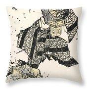 Hokusai: Setsubun, 1816 Throw Pillow