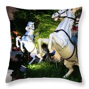 Hold On To The Reins Throw Pillow