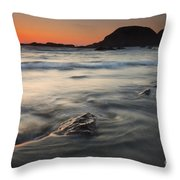 Holding Back The Sea Throw Pillow