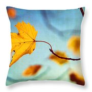 Holding On Throw Pillow by Darren Fisher