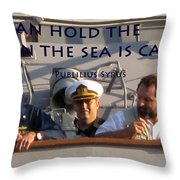 Holding The Helm Throw Pillow