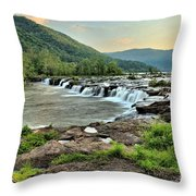 Hole In The New River Throw Pillow