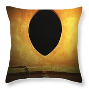 Hole In The Wall With Lamp Throw Pillow