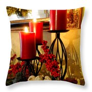 Holiday Candles Hcp Throw Pillow