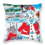 Holiday Dip Throw Pillow