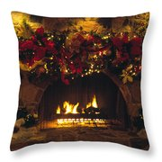 Holiday Hearth Throw Pillow