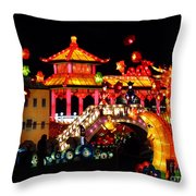 Holiday Lights 9 Throw Pillow