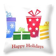 Holiday Presents Throw Pillow