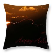 Holiday Sunrise Throw Pillow