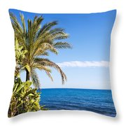 Holidays By The Sea Throw Pillow