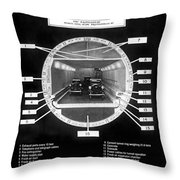 Holland Tunnel Section View Throw Pillow