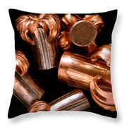 Hollow Point Bullets Throw Pillow