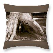 Hollow Tree Throw Pillow