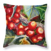 Holly Barries Throw Pillow