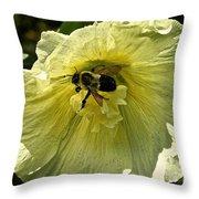 Hollyhock Collecter Throw Pillow