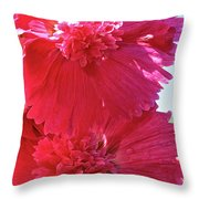 Hollyhock Duet Throw Pillow