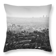 Hollywood From Above Throw Pillow