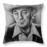 Hollywood Greats -robert Mitchum Throw Pillow