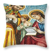 Holy Family At Catholic Church Throw Pillow