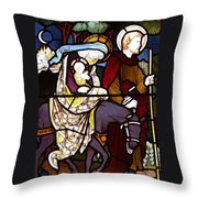 Holy Family Stained Glass Throw Pillow