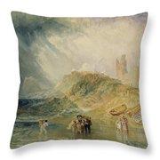 Holy Island - Northumberland Throw Pillow