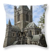 Holy Trinity Cathedral Dublin Throw Pillow