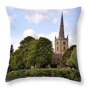 Holy Trinity Church Throw Pillow by Jane Rix