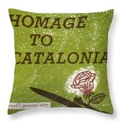 Homage To Catalonia Throw Pillow